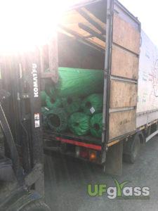 Погрузка искусственной травы 500 м2, клея и шовной ленты в Анапу и Туапсе